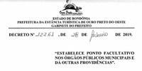 Alteração de Data da 5ª Sessão Ordinária Devido Ponto Facultaivo