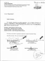 REQUERIMENTO DE INSCRIÇÃO DE CHAPA PARA ELEIÇÃO DA MESA DIRETORA BIÊNIO 2021-2022